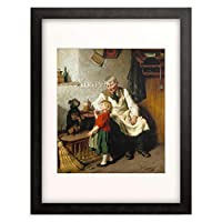 Schlesinger, Felix,1833-1910 「Auf Kommando.」 額装アート作品