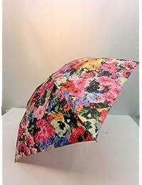 ノーブランド品 折畳傘 婦人 ポリエステル高密度転写プリント軽量丸ミニ折り畳み雨傘