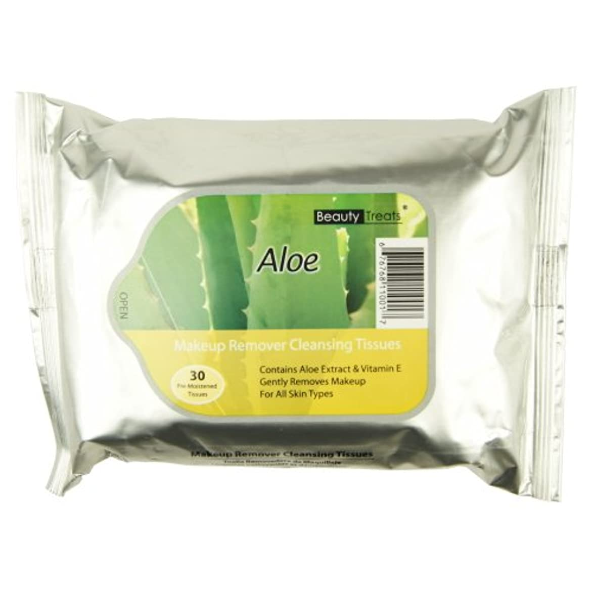 感嘆符太字メーターBEAUTY TREATS Makeup Remover Cleansing Tissues - Aloe (並行輸入品)