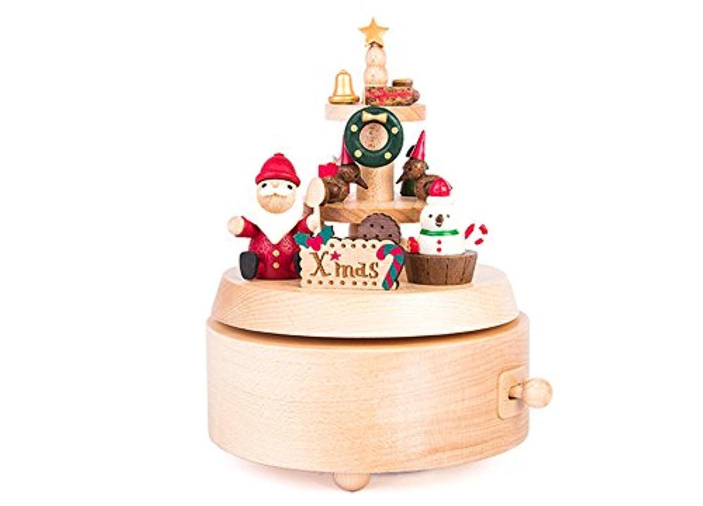 [オルゴール] サンタクロース 雪だるま エルク クリスマス オルゴール オルゴール スパンクリスマス ギフト ハロウィン 飾り ドールハウス オルゴール ピアノ 薔薇 インテリア 【結婚祝い 出産祝い 贈り物 癒し 誕生日プレゼント】WU0412