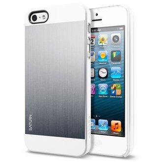 国内正規品iphone5 ケース アルミバックパネル アイフォン5ケース SPIGEN SGP Saturn サターン(サテン・シルバー)