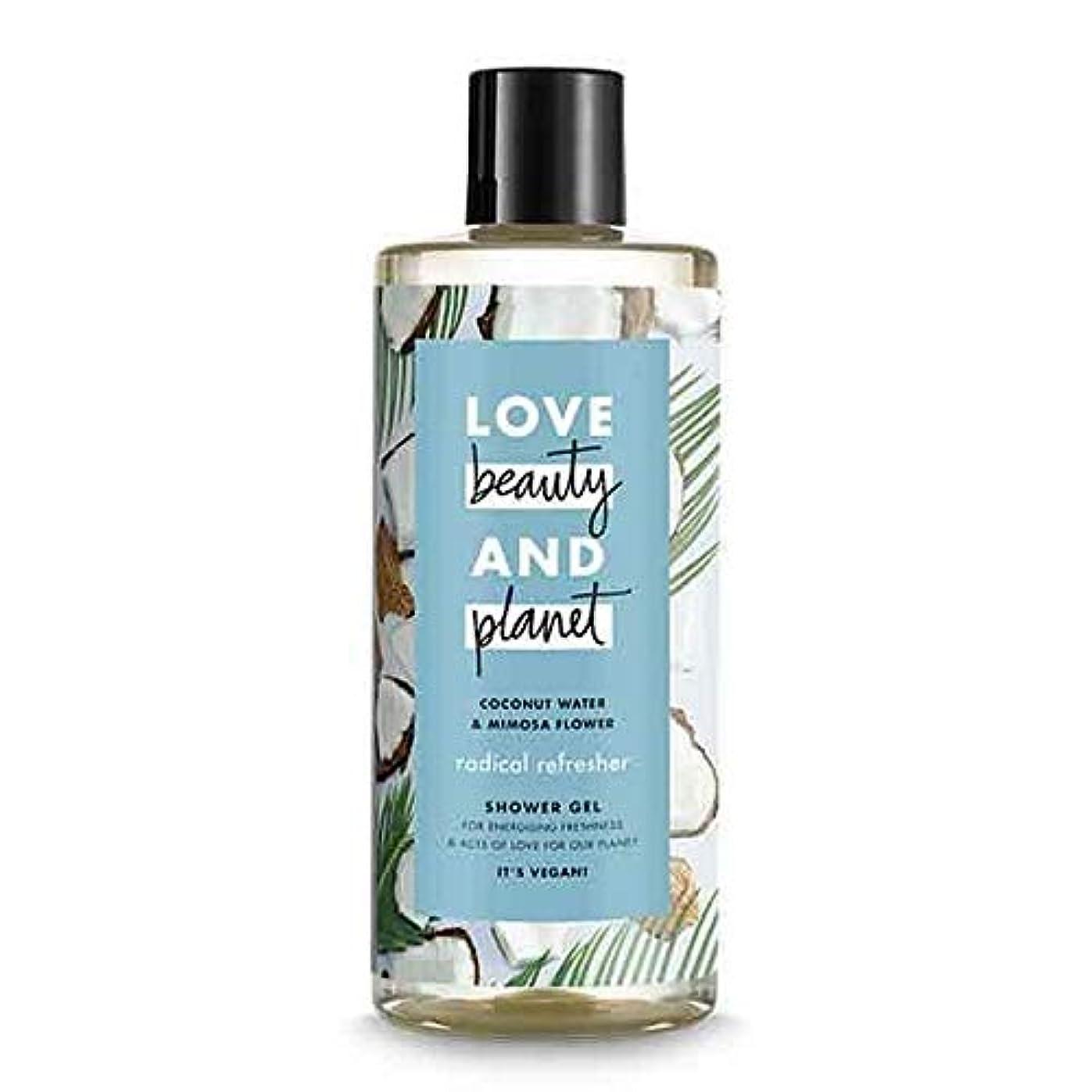 神秘廃止する噴水[Love Beauty and Planet ] 美しさと惑星ラジカルリフレッシュシャワージェル500ミリリットルを愛します - Love Beauty And Planet Radical Refresher Shower...