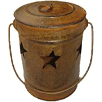 Craft Outlet素朴なStar Candleバケット、4by 4by 6インチ
