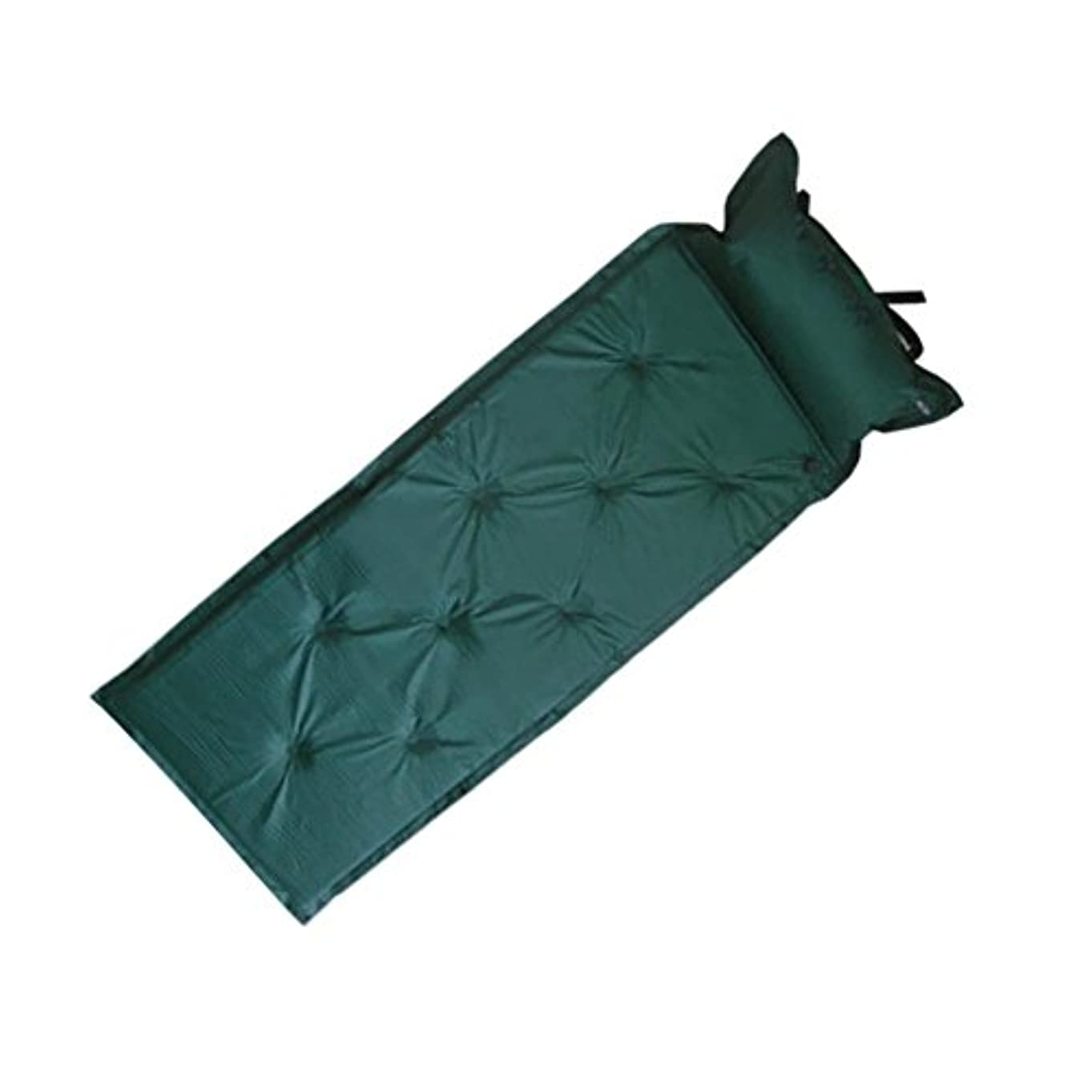 観光に行く野菜なんとなくSUNYU® 自己膨張型睡眠パッド、キャンプ用マット付属枕付き折り畳み式テント空気マットレスアウトドアアクティビティのためのインフレータブル?ラウンジャーソファベッド(グリーン)