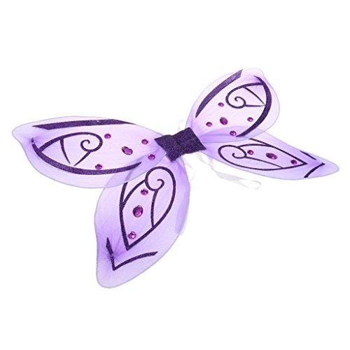 [해외]노 브랜드 제품 전 2 색 명주 크리스탈 나비 천사 요정의 날개 어린이 파티 의상 코스프레/No brand name all 2 color tulle crystal butterfly angel fairy wings kids party masquerade cosplay