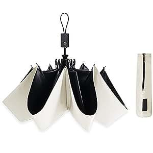 改良版 折りたたみ傘 軽量男女兼用 自動開閉 折り畳み傘uvカット紫外線遮蔽率99% 日傘 (ホワイト)