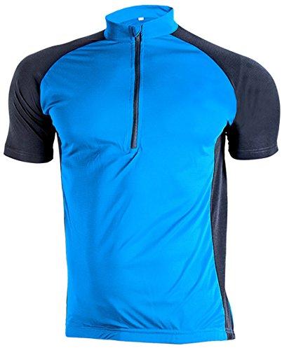 サイクリングウェア 半袖 ユニセックス スボーツ ブルー 2XL