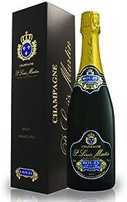 [Amazon限定ブランド]【父の日/ギフト】【グレープフルーツのような新鮮な香り】シャンパーニュ・ポール・ルイ・マルタン・ブリュット・グランクリュ ギフト箱入り 750ml [ フランス/スパークリング/辛口 /Cur