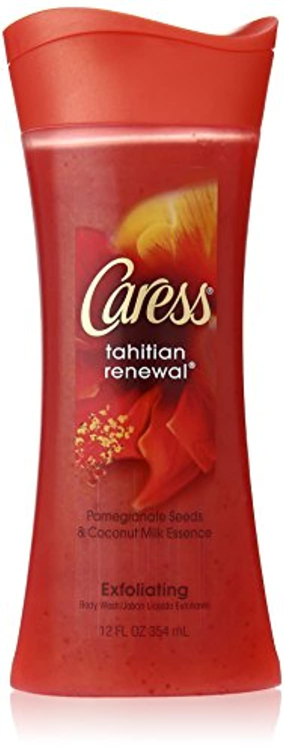 バースーパー衣類Tahitian Renewal Silkening Body Wash Caress 12 oz Body Wash For Unisex by Caress