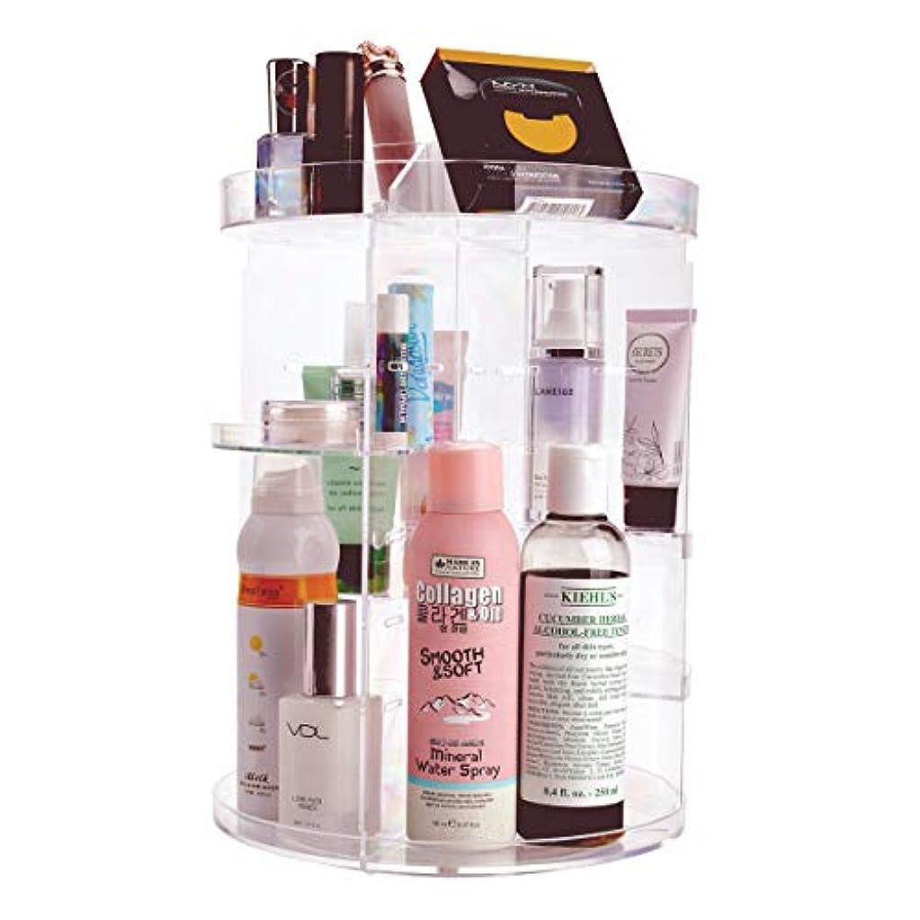 暴力不快なキリマンジャロNKTM 化粧品収納ボックス コスメ収納 360度回転式 騒音なし 防塵 高透明度 強い耐久性 整理簡単 ギフト