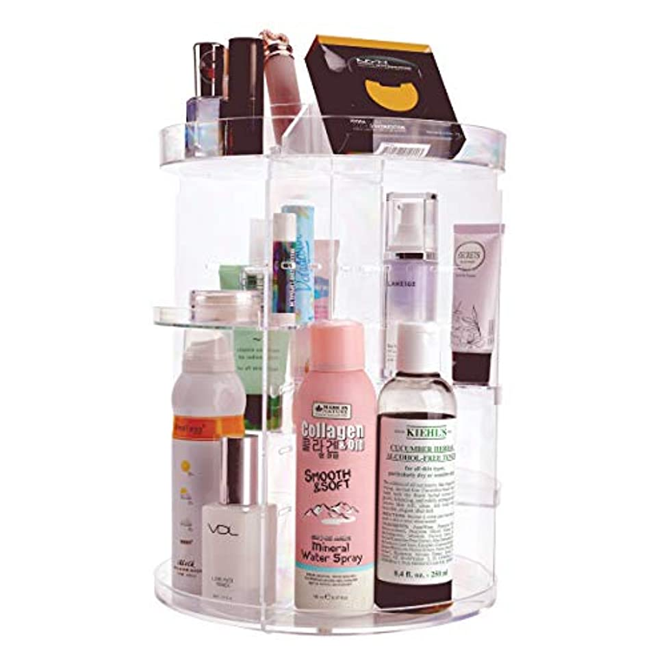 叙情的なイル光沢NKTM 化粧品収納ボックス コスメ収納 360度回転式 騒音なし 防塵 高透明度 強い耐久性 整理簡単 ギフト
