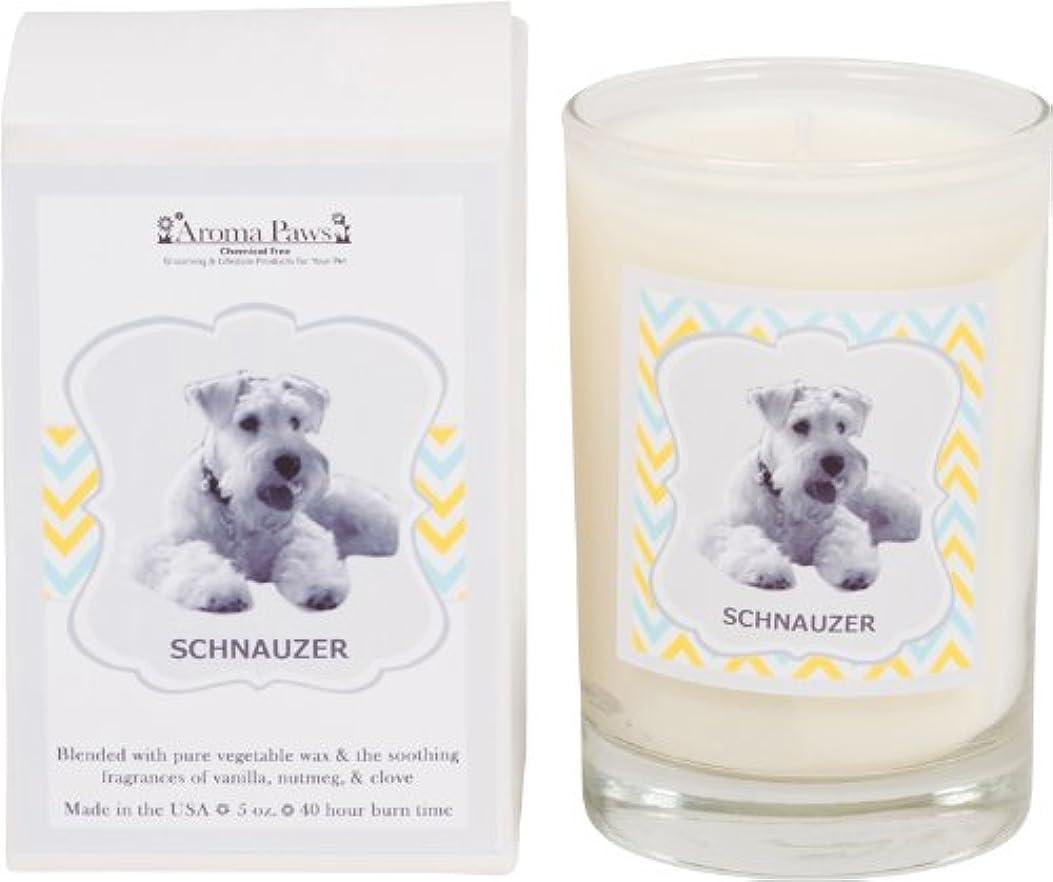 貞ウッズカストディアンAroma Paws Breed Candle Glass, 5-Ounce, Schnauzer by Aroma Paws