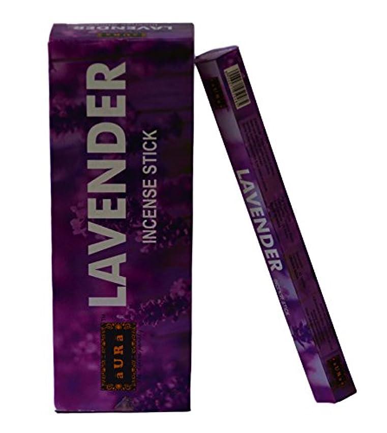 汚物中絶泥棒オーララベンダー香りつきIncense Sticks、プレミアム天然Incense Sticks、六角Packing -120 Sticks