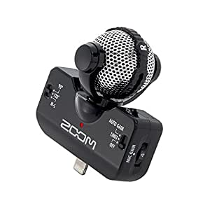 ZOOM Professional Stereo Microphone iQ5 黒