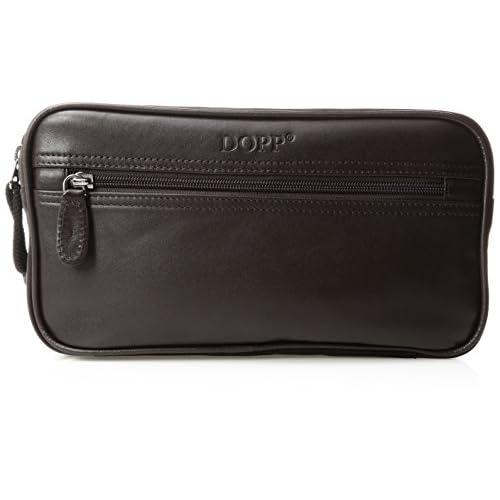 Dopp 06947D Seasoned Traveler Soft Sided Multi-Zip Travel Kit, Brown