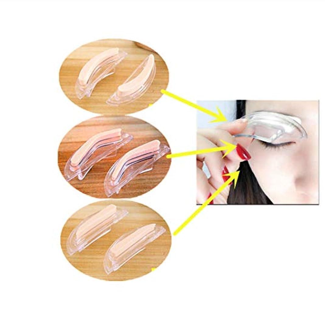 猫背締める許可Dexinyigeアイブロウ スタンプ 眉毛 ストレートアイブロウスタンプ トレンドストレート /3種類の眉形セット 美化粧道具 入れ墨道具