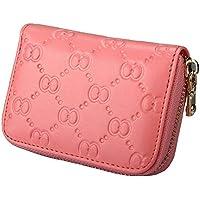 Credit Card Organizer Wallet-Welegant Genuine Leather Zipper Small Wallet Purse Case for Women Ladies Teen Girls