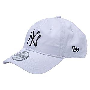 (ニューエラ) NEW ERA 9TWENTY Cloth Strap Washed Cotton ニューヨーク・ヤンキース ホワイト × ブラック キャップ One Size