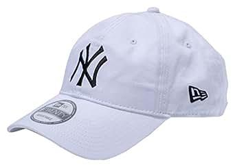 (ニューエラ)NEW ERA 9TWENTY Cloth Strap Washed Cotton ニューヨーク・ヤンキース ホワイト × ブラック キャップ One Size