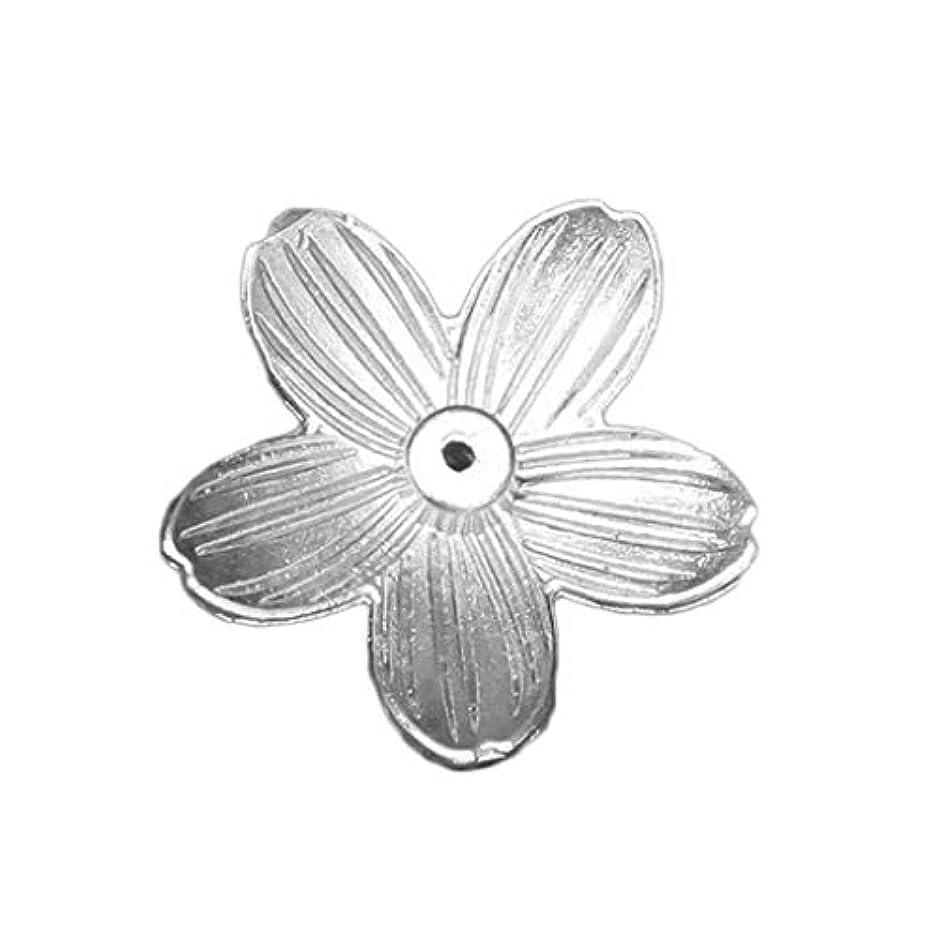 十二粘着性成功芳香器?アロマバーナー 1ピース桜の花柄香バーナースティックホルダー香ベースプラグ香スタンドホームデコレーション 芳香器?アロマバーナー (Color : C)
