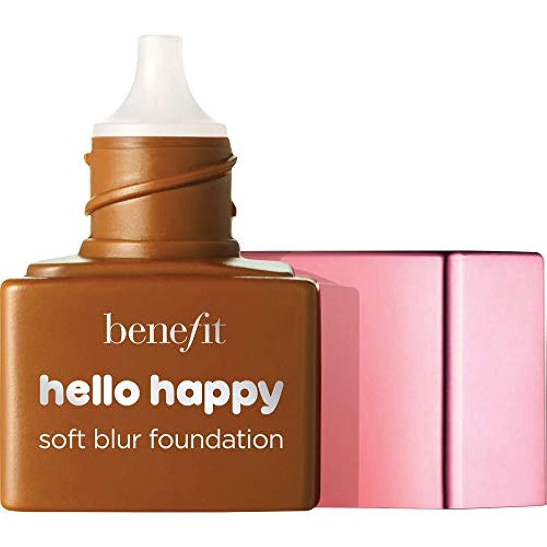 一方、電話する塗抹[Benefit ] ミニ9 - - ハロー幸せソフトブラー基礎Spf15の6ミリリットルの利益中立深いです - Benefit Hello Happy Soft Blur Foundation SPF15 6ml -...