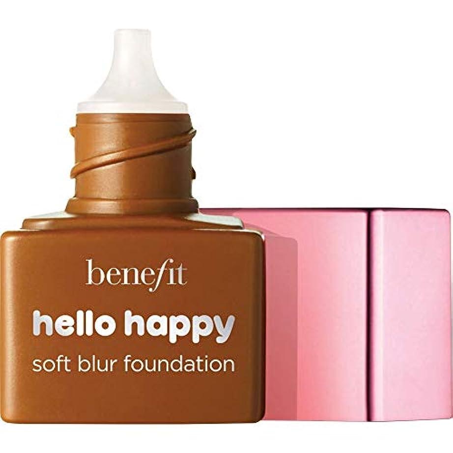 彼秀でる韓国[Benefit ] ミニ9 - - ハロー幸せソフトブラー基礎Spf15の6ミリリットルの利益中立深いです - Benefit Hello Happy Soft Blur Foundation SPF15 6ml -...