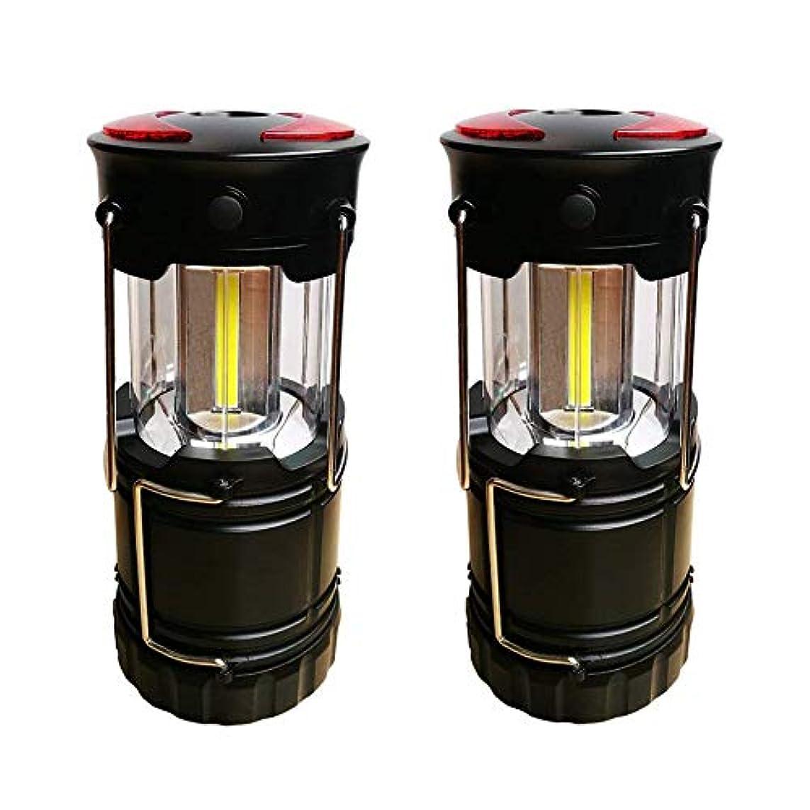 それに応じて喉頭アンドリューハリディTWOBOYS 2個セット LEDランタン 電池式 防災 登山 夜釣 停電 懐中電灯 折りたたみ式