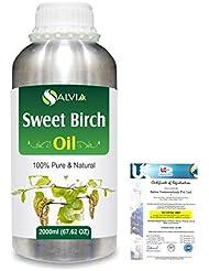 Sweet Birch (Betula lenta) 100% Natural Pure Essential Oil 2000ml/67 fl.oz.