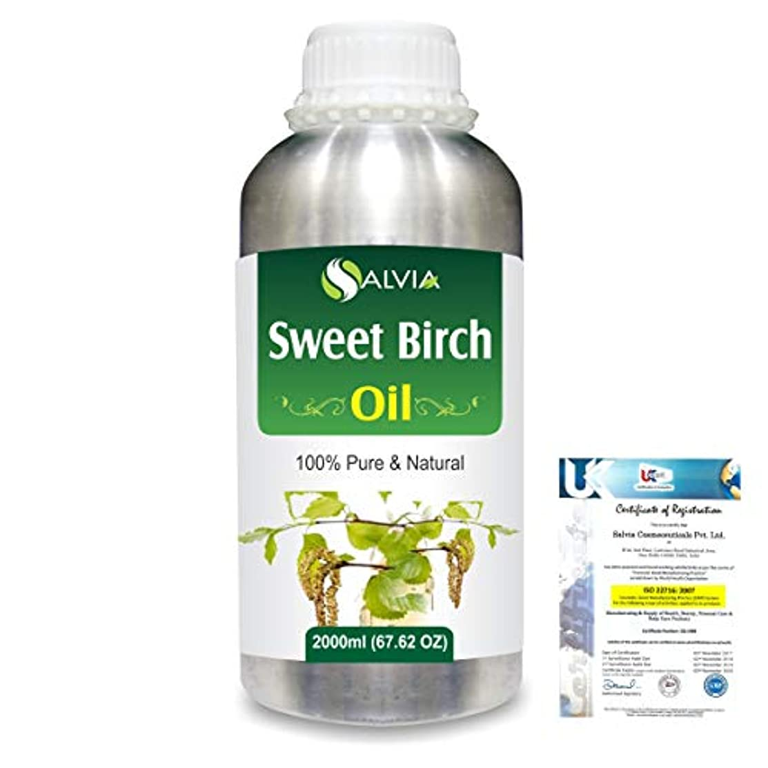 バッフル散髪風刺Sweet Birch (Betula lenta) 100% Natural Pure Essential Oil 2000ml/67 fl.oz.