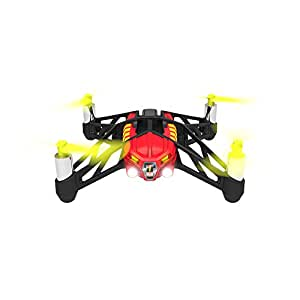 【国内正規品】Parrot Minidrones Airborne Night Blaze(レッド)ドローン規制対象外200g 未満・パリデザイン・LED 付き自動安定ホバーリングクアッドコプター ・30万画素カメラ・簡単にアクロバット・スマホ・タブレットで操作 PF723132