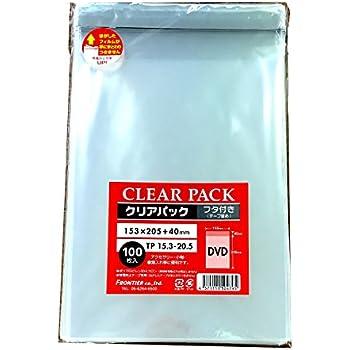 カクケイ OPP袋 クリアパック フタ付 テープ付 30μ 100枚 TP15.3-20.5