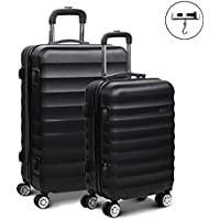 Wanderlite Luggage Suitcase Trolley Set Travel Carry On Bag Hard Case with TSA Lock