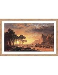 Oregon Trail, The by Albert Bierstadt – 36 x 24インチ – アートプリントポスター 24 x 36 Inch LE_34237-F10902-36x24
