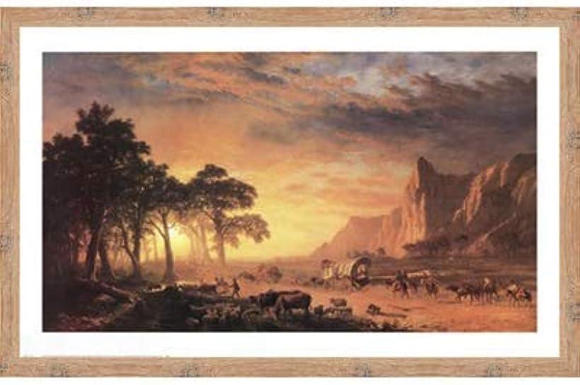 リスク熟読するスキームOregon Trail, The by Albert Bierstadt – 36 x 24インチ – アートプリントポスター 24 x 36 Inch LE_34237-F10902-36x24
