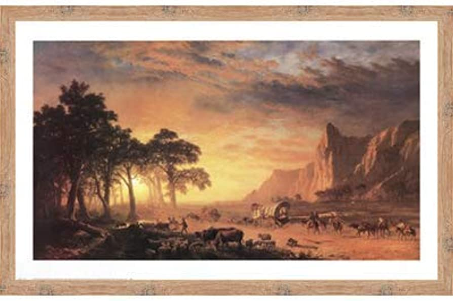 Oregon Trail, The by Albert Bierstadt – 36 x 24インチ – アートプリントポスター 24 x 36 Inch LE_34237-F10902-36x24