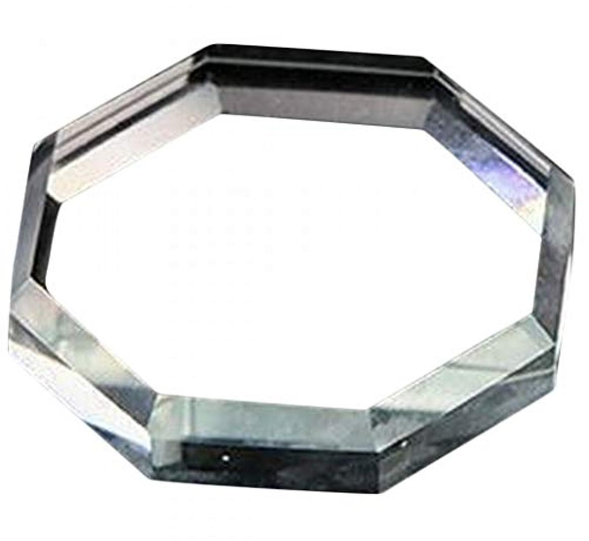 ホイットニーふける増加するPlus Nao(プラスナオ) ガラスパレット ネイルアート ネイルパレット 八角形 サークル スクエア ジェルネイル スカルプチャー アクリルアー