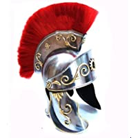 Queen Brass中世ギリシャコリントヘルメットレッドプラムローマ: Knight Gallic Troyトロイco44標準シルバーレッド