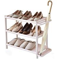SLH カーキシンプルモダン多層シューズシェルフシンプルな靴ラックラックプラスチック防塵寮ストレージシューズシェルフ傘スタンド (Size : Three layer)