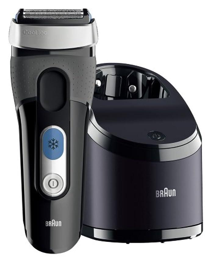 ストッキングはねかける青ブラウン クールテック メンズ電気シェーバー 3枚刃 CT6cc お風呂剃り可