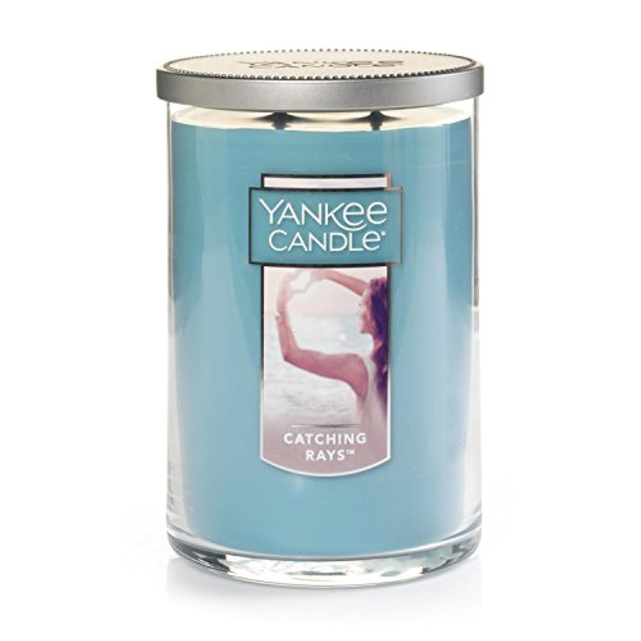 追い付く特性好意(ヤンキーキャンドル) Yankee Candle Lサイズ ジャーキャンドル Large 2-Wick Tumbler Candle ブルー 1351630Z