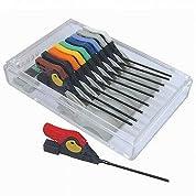 サンハヤト 面実装IC用テストクリップ 10色各1個セット HP-2-10