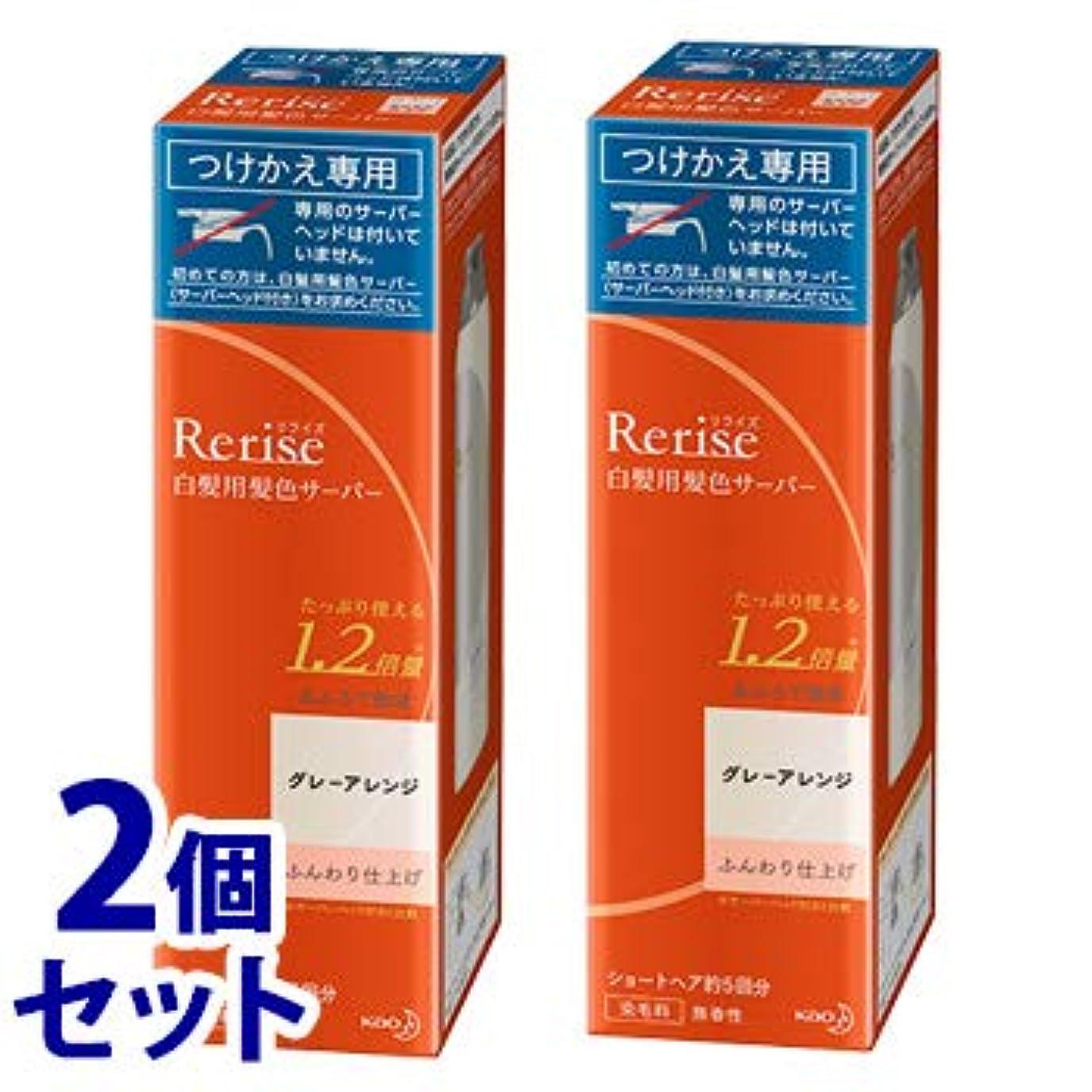 モロニック和《セット販売》 花王 リライズ 白髪用髪色サーバー グレーアレンジ ふんわり仕上げ つけかえ用 (190g)×2個セット 付け替え用 染毛料