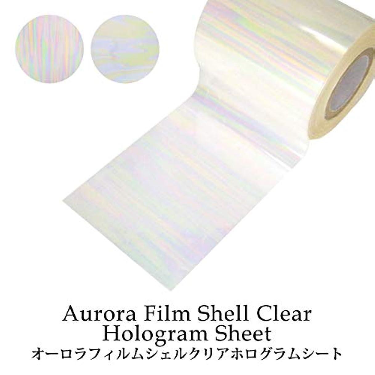 ディレクター知覚できる小間オーロラフィルム シェルクリア ホログラムシート(1-2) 1枚入り (2.シェルクリア(横))
