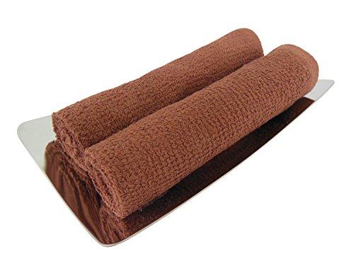 おしぼり 茶色(ブラウン) 80匁 60枚 業務用 ハンドタオル おしぼりタオル