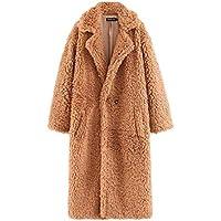 omniscient Women Long Jacket Faux Lambswool Fluffy Teddy Coat Outwear