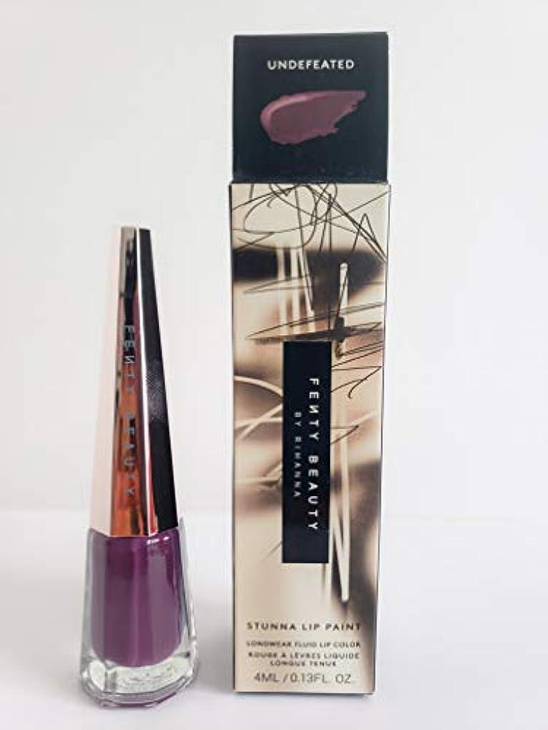 離婚乏しいユーモラスFENTY BEAUTY BY RIHANNA Stunna Lip Paint Longwear Fluid Lip Color (Undefeated)