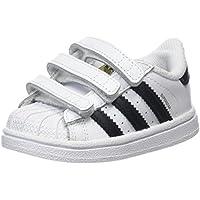 adidas Baby Boys' Superstar CF Shoes, Footwear White/Core Black/Footwear White, 24-36 Months (24-36 Months)