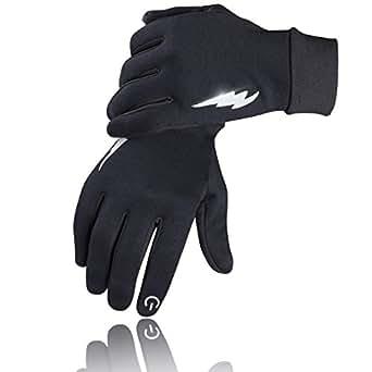 SIMARI グローブ 手袋 自転車グローブ 冬用 裏起毛 タッチパネル対応 サイクルグローブ サイクリンググローブ 3D 立体 耐磨耗性 換気性 メンズ レディース ジュニア 男女兼用 (S, ブラック)