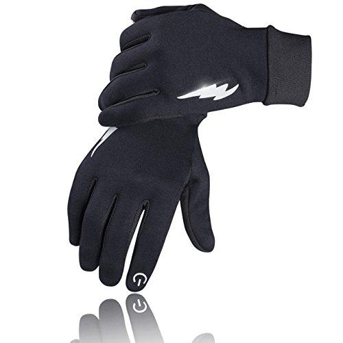 SIMARI グローブ 手袋 自転車グローブ 冬用 裏起毛 タッチパネル対応 サイクルグローブ サイクリンググローブ 3D 立体 耐磨耗性 換気性 メンズ レディース ジュニア 男女兼用 (L, ブラック)