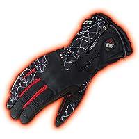 コミネ KOMINE バイク アドバンスドプロテクトエレクトリックグローブ 手袋 電熱 発熱 防寒 Crush Black/Red/L 08-205 EK-205